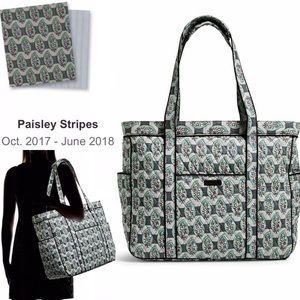 VERA BRADLEY Get Carried Away Tote Paisley Stripes